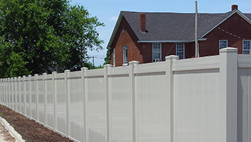Vinyl Coated Privacy Fence