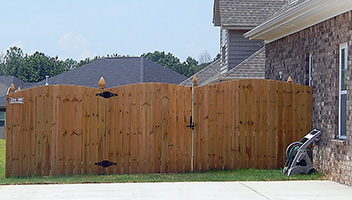 Wood Cap and Trim Fence